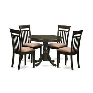 e3efad1d8332 Winsome Wood Groveland 5 Piece Square Dining Table with 4 Chairs ...