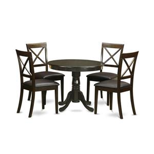 East West Furniture Antique Dining set - Wood - Brown - 5 Pieces