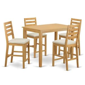 East West Furniture Yarmouth Dining set - Wood - Oak - 5 Pieces