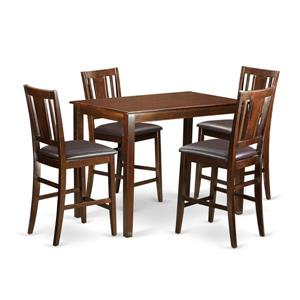 East West Furniture Yarmouth Dining set - Wood - Red - 5 Pieces