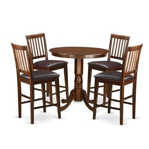 East West Furniture Jackson Dining set - Wood - Red - 5 Pieces