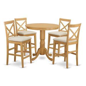 East West Furniture Jackson Dining set - Wood - Oak - 5 Pieces