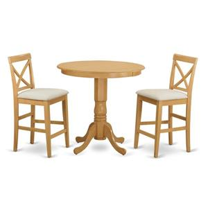 East West Furniture Jackson Dining set - Wood - Oak - 3 Pieces