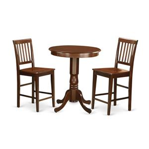 Eden Dining set - Wood - Red - 3 Pieces