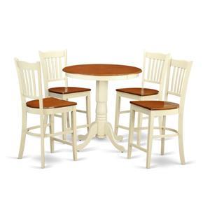 Eden Dining set - Wood - White/Cherry- 5 Pieces