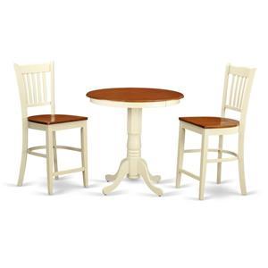 Eden Dining set - Wood - White/Cherry- 3 Pieces
