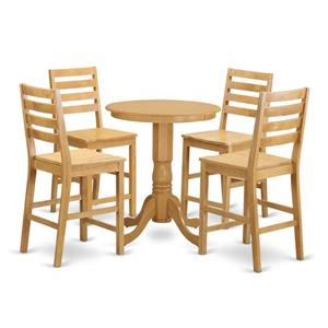 East West Furniture Eden Dining set - Wood - Oak - 5 Pieces
