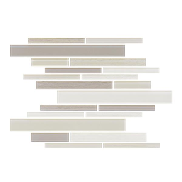"Ceratec Lifestyle Barista  Wall Tiles - 11"" x 12"" - Glass - Cream - 15 pcs"