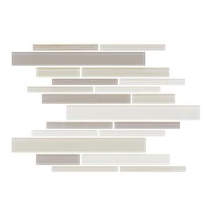"Ceratec Lifestyle Barista  Wall Tiles - 11"" x 12"" - Glass - Cream - 15 pcs"