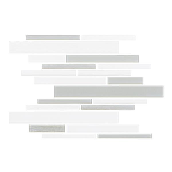 "Ceratec Lifestyle Barista  Wall Tiles - 11"" x 12"" - Glass - Gray - 15 pcs"