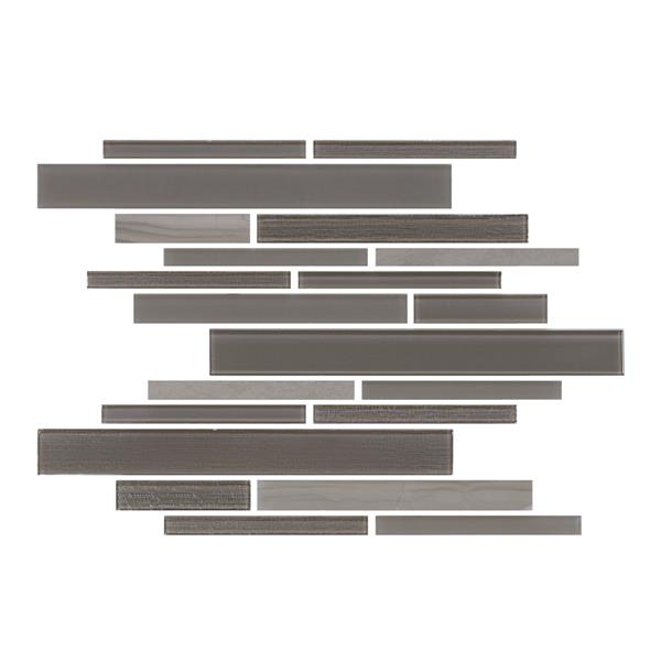 "Lifestyle Barista  Wall Tiles - 11"" x 12"" - Glass - Mocha - 15 pcs"