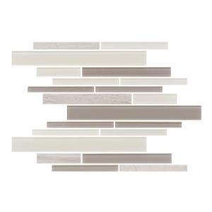 "Ceratec Lifestyle Barista  Wall Tiles - 11"" x 12"" - Glass - Latte - 15 pcs"