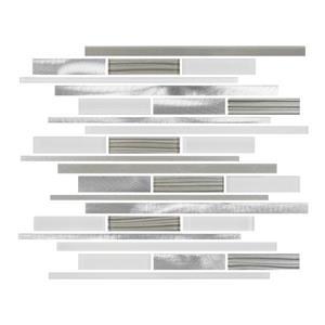 "Ceratec Lifestyle Metropole Wall Tiles - 12"" x 12"" - Glass - White - 10 pcs"