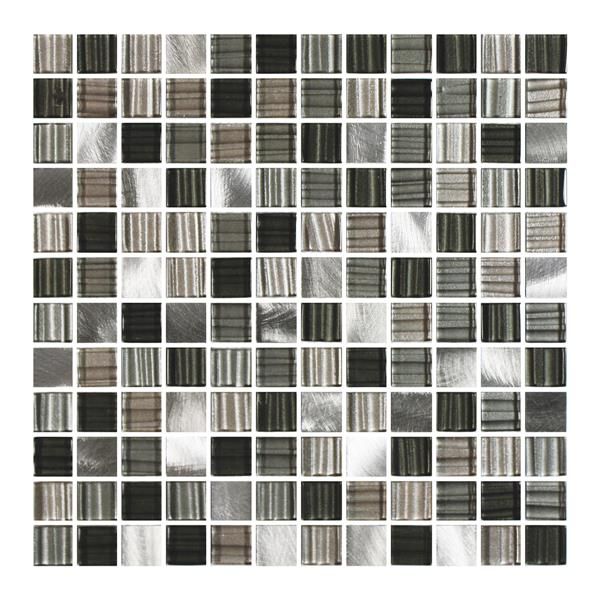 """Ceratec Lifestyle Metropole Wall Tile - 12"""" - Glass - Charcoal"""
