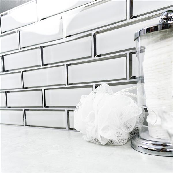"Ceratec Wall Tile - 12"" x 12"" - Glass - White"