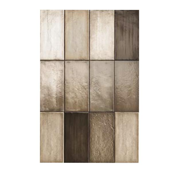 "Ceratec Iris Quayside Subway Wall Tile - 4"" x 8"" - Ceramic - Brown - 32 pcs"