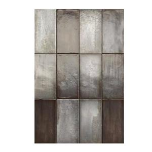 "Ceratec Iris Quayside Subway Wall Tile - 8"" - Ceramic - Graphite - 32 pcs"