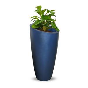 """Jardinière haute Modesto, 16"""" x 32"""", plastique, bleu"""