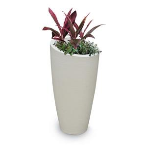 Mayne Modesto Tall Planter - 16-in x 32-in - Plastic - Off-white
