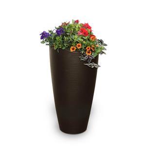 Jardinière haute Modesto, 16 po x 32 po, plastique, brun