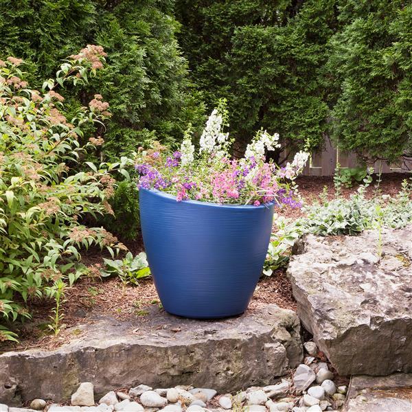 """Jardinière haute Modesto, 20"""" x 20"""", plastique, bleu"""