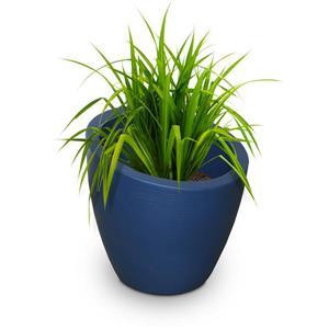 Mayne Modesto Tall Planter - 20-in x 20-in - Plastic - Blue