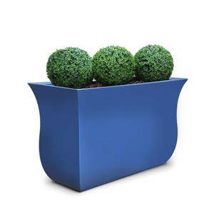 Mayne Valencia Tall Planter - 16-in x 22-in - Plastic - Blue