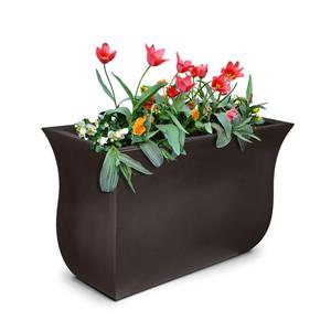 Mayne Valencia Tall Planter - 16-in x 22-in - Plastic - Brown