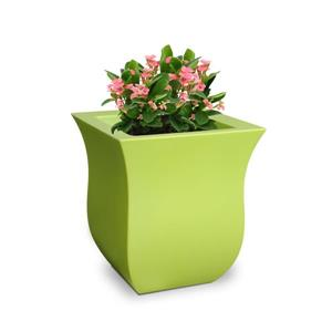 Mayne Valencia Tall Planter - 16-in x 18-in - Plastic - Green