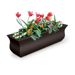 Bac à fleurs Valencia, 9,8 po x 10,1 po, plastique, brun