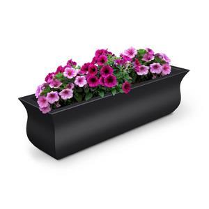 Bac à fleurs Valencia, 9,8 po x 10,1 po, plastique, noir