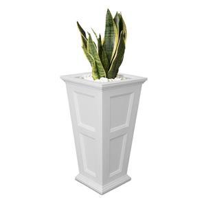 Jardinière haute Fairfield, 16 po x 28,5 po, plastique, blanc