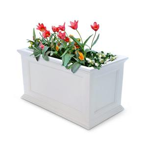 Mayne Fairfield Patio Planter - 20-in - Plastic - White