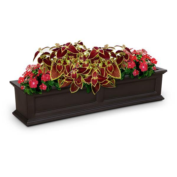 """Bac à fleurs Fairfield, 11"""", plastique, brun"""