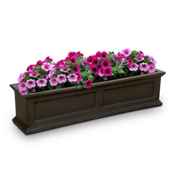 "Bac à fleurs Fairfield, 11"" x 11"", brun"