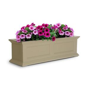 Mayne Fairfield Window Box - 11-in x 11-in - Plastic - Off-white