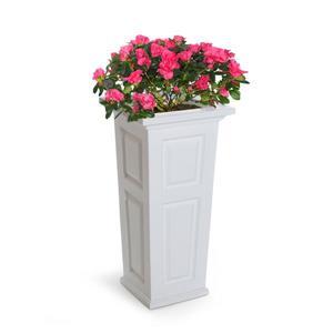 """Jardinière haute Nantucket, 15,5"""" x 32"""", plastique, blanc"""