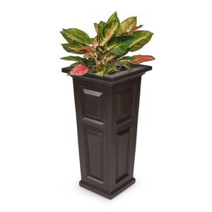 Mayne Nantucket Tall Planter - 15.5-in x 32-in - Plastic - Brown