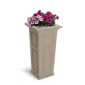 Mayne Nantucket Tall Planter - 32-in - Plastic - Off-white