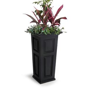 Mayne Nantucket Tall Planter - 15.5-in x 32-in - Plastic - Black