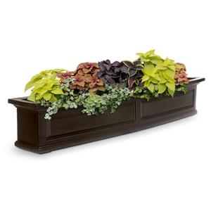 Mayne Nantucket Window Box - 10-in - Plastic - Brown