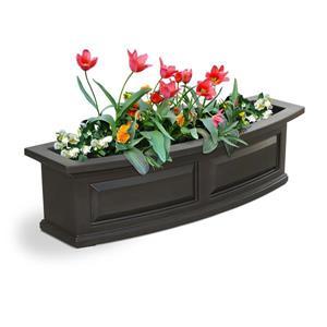 Bac à fleurs Nantucket, 11,5 po, plastique, brun