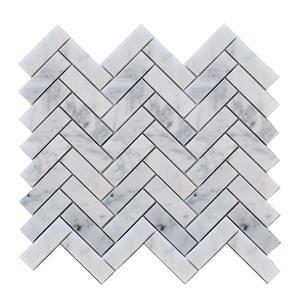 """Mosaïque murale, 12,5"""" x 11,6"""", pierre blanc et gris, 10 mcx"""