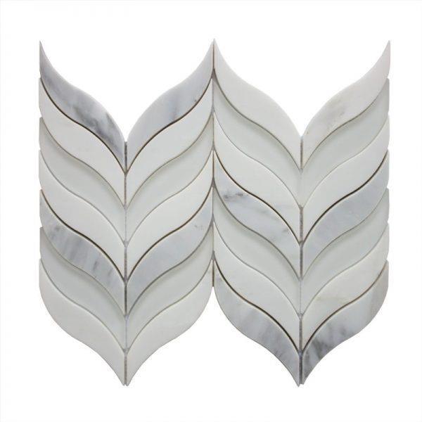 JL Tile Mimosa Backsplash Tile - 12-in - Stone/White Marble - 10-pack