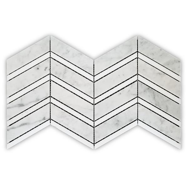 """Roma Backsplash Tile - 16"""" x 8.5"""" - Stone - Grey - 10-pack"""