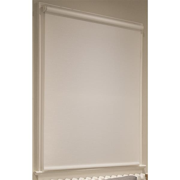 Sun Glow Privacy Roller Shade - 61-in x 72-in - White