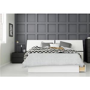 Ensemble chambre à coucher Double 3 pcs Context, Noir/Blanc