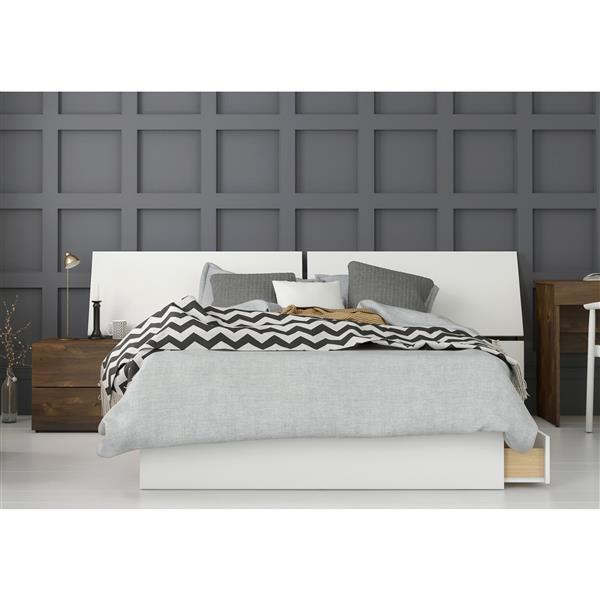 Ensemble chambre à coucher Double 3 pcs Arcadia,Truffe/Blanc