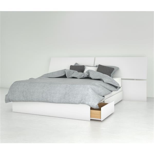 Ensemble chambre à coucher Double 2 pcs Nexera, Blanc