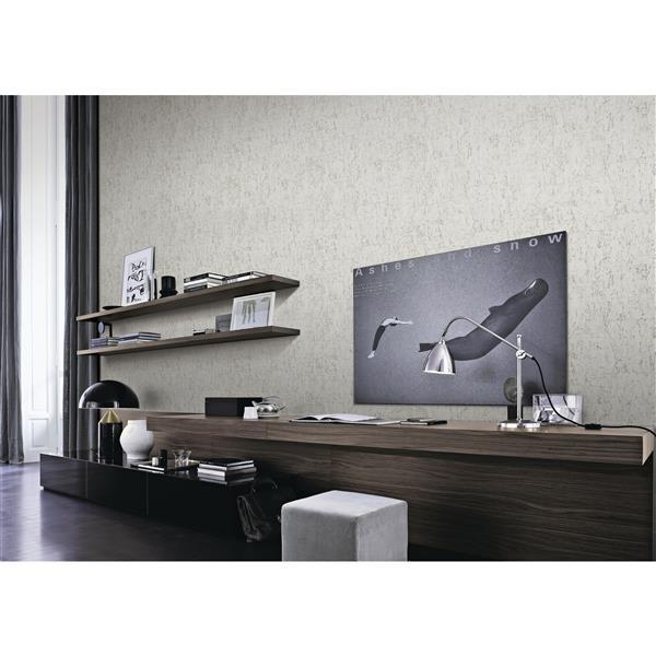design id Serendipity Damask Wallpaper Roll - 21-in - Cream/Gray